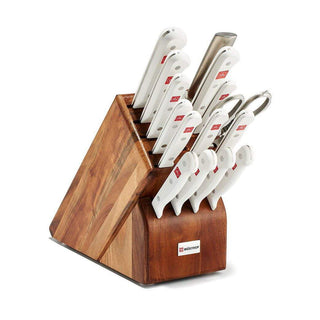 Wusthof Knife Sets White Handles Wusthof Gourmet 16-Piece Block Set JL-Hufford