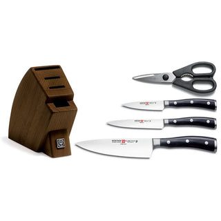Wusthof Knife Sets Wusthof Classic Ikon 5-piece Studio Knife Block Set - Walnut JL-Hufford