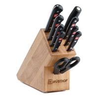 Wusthof Knife Sets Wusthof Gourmet 10-piece Knife Block Set - Beechwood JL-Hufford