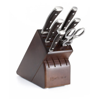 Wusthof Knife Sets Wusthof Ikon Blackwood 7-piece Knife Block Set - Walnut Block JL-Hufford