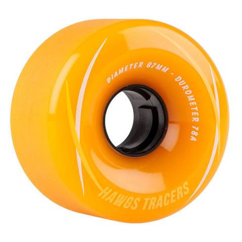 HAWGS TRACERS ORANGE LONGBOARD WHEELS