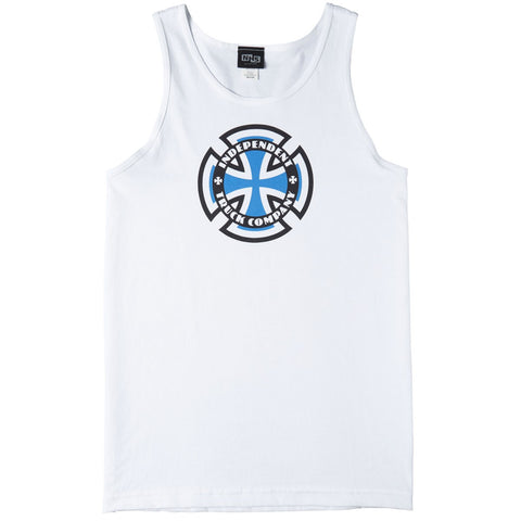 INDEPENDENT RINGED CROSS TANK-TOP WHITE