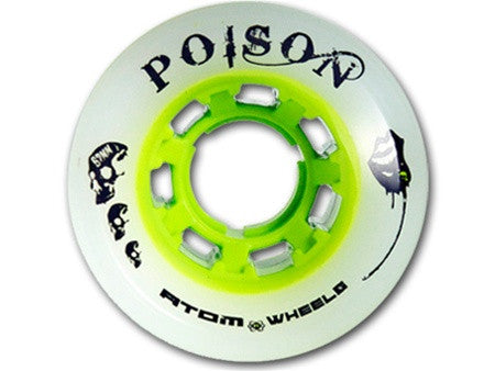 ATOM POISON DERBY SKATE WHEELS 62mm x 44mm - SET Of 8