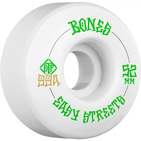 BONES STREET TECH FORMULA EASY STREETS 52mm 99a SKATEBOARD WHEELS