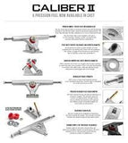 "CALIBER II 10"" WHITE/GOLD LONGBOARD SKATEBOARD TRUCKS - 184mm"
