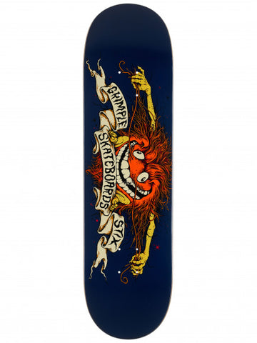 "GRIMPLE STIX TEAM COLLAB 8.5"" BLUE SKATEBOARD DECK"