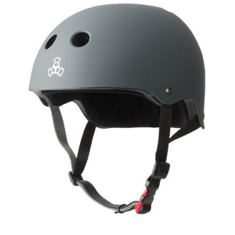 TRIPLE EIGHT CERTIFIED SWEATSAVER HELMET -  GREY RUBBER