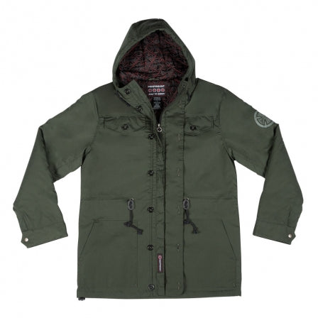 Independent Manuevers Mens Hooded Heavyweight Jacket