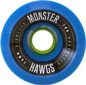 LANDYACHTZ MONSTER HAWGS LONGBOARD SKATEBOARD WHEELS 76mm - BLUE