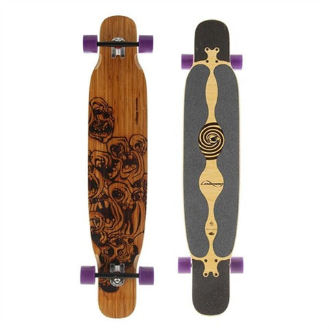 LOADED BHANGRA BAMBOO LONGBOARD SKATEBOARD COMPLETE - FLEX 1