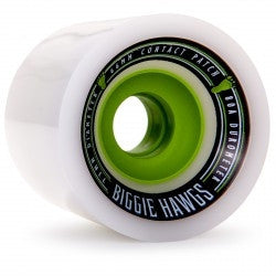 LANDYACHTZ BIGGER BIGGIE HAWGS LONGBOARD SKATEBOARD WHEELS 73mm 80a - WHITE