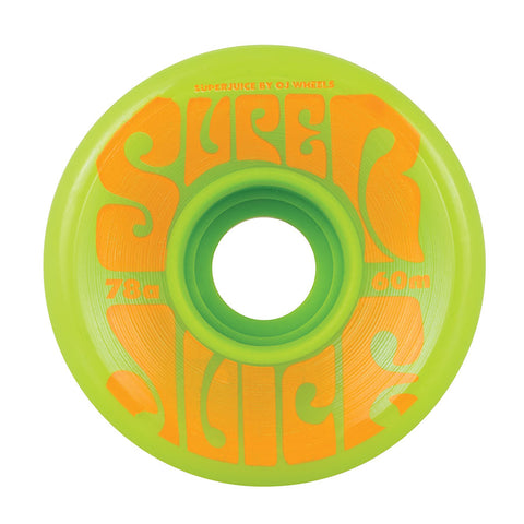 OJ SUPER JUICE GREEN SKATEBOARD WHEELS 60mm 78A