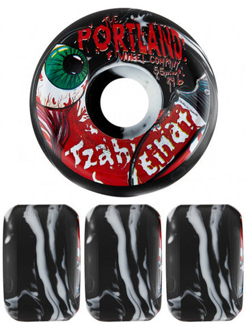PORTLAND WHEEL CO TZAHI EINAT PRO  55mm SKATEBOARD WHEELS