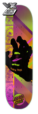 "SANTA CRUZ AFTERGLOW HAND VX 8.0"" x 31.6"" SKATEBOARD DECK"