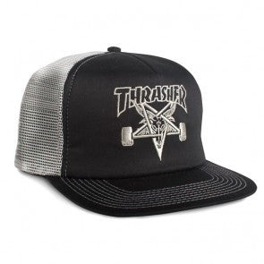 THRASHER EMBROIDERED LOGO MESH HAT