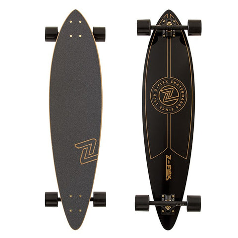 Z-FLEX TOP SHELF GOLD LONGBOARD SKATEBOARD COMPLETE
