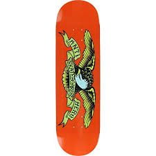 "ANTI HERO CLASSIC EAGLE ORANGE 9.0"" SKATEBOARD DECK"