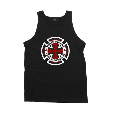 INDEPENDENT RINGED CROSS TANK-TOP BLACK