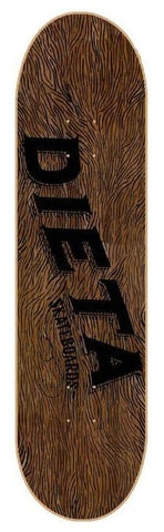 "DIETA BROWN LOGO 8.5"" SKATEBOARD DECK"