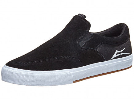 LAKAI OWEN VLK BLACK SLIP ON SKATE SHOES
