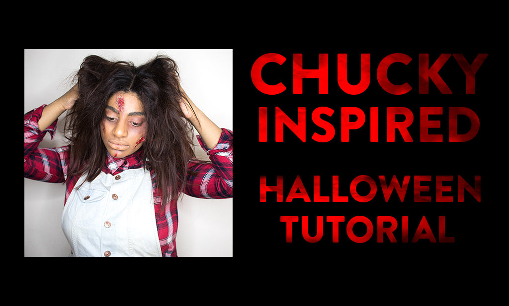 Chucky Halloween Hair Tutorial