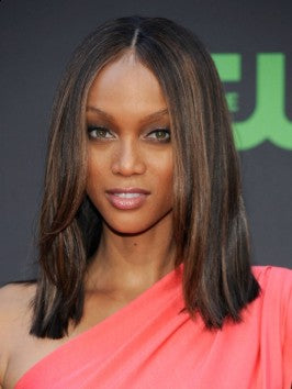 Tyra Banks Blunt Cut All Shades Covered