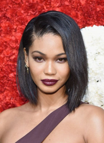 Chanel Iman Asymmetric Bob cut