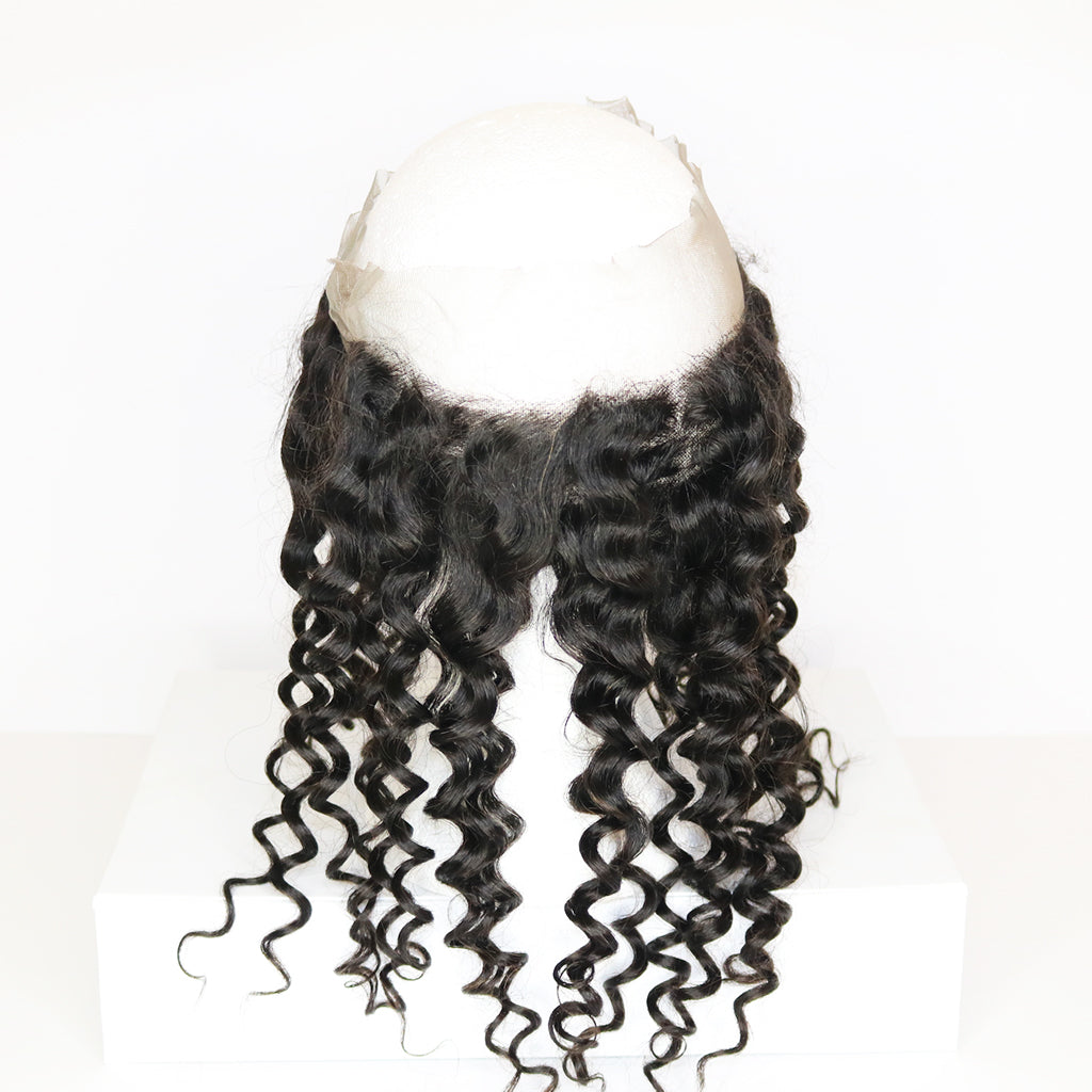 Clearance - 360 Deep Curl Lace Frontal 18""
