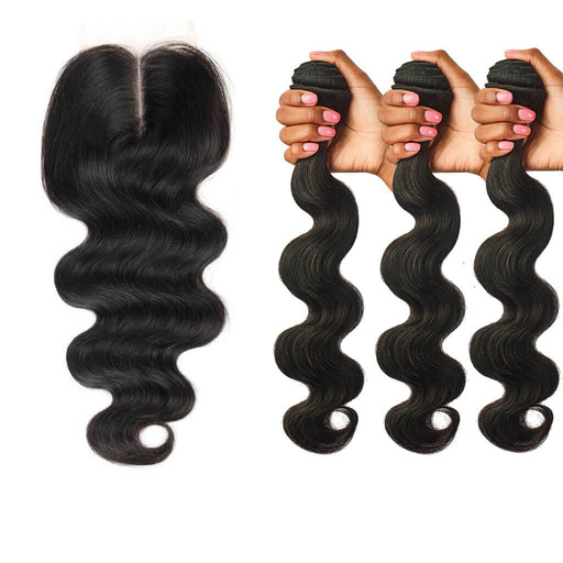 Body Wave Lace Closure + Body Wave Hair Bundles Sets
