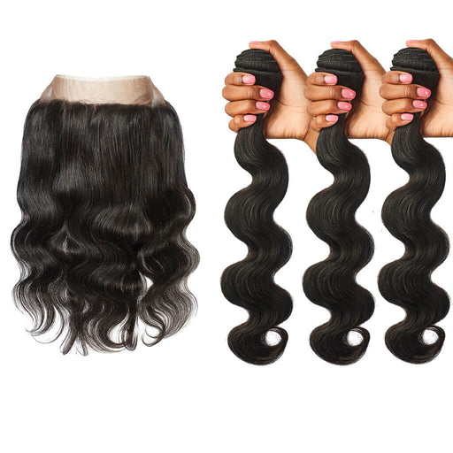 Body Wave Lace Frontal  + Body Wave Hair Bundles Set