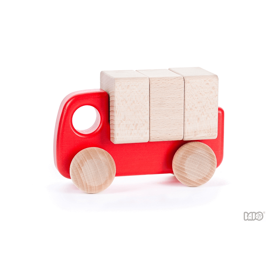 Bajo - Truck with Blocks, Red