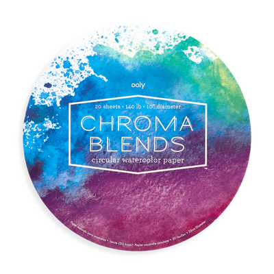 chroma blends circular watercolor paper