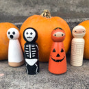 Ghoul Friends - Halloween Wooden Peg Dolls Set