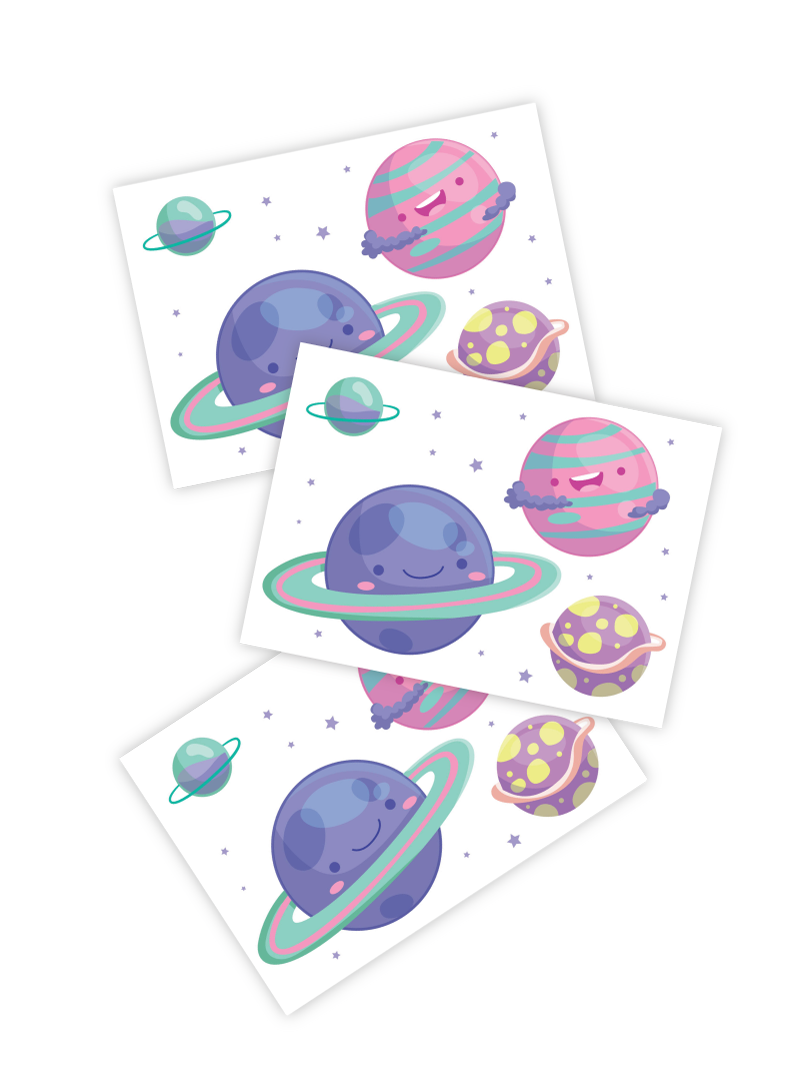 Planets Tattoo - Set of 3