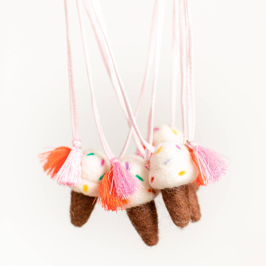 Ice Cream Woolie  Necklace