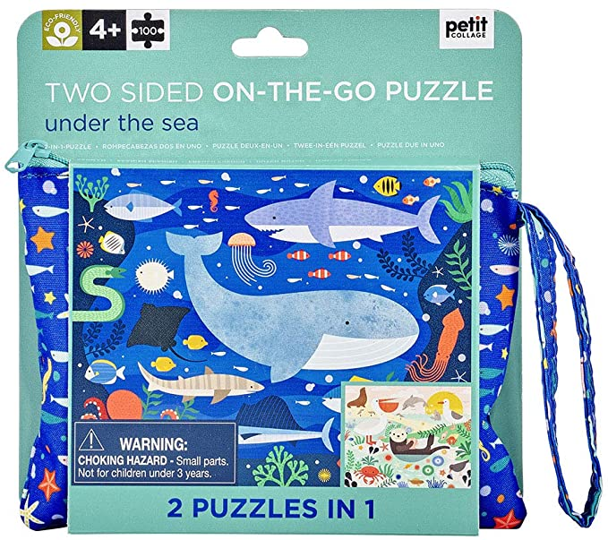 Two Sided On The Go Puzzle, Under the Sea 100 pc