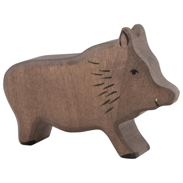 Holztiger - Wooden Animal - Wild Boar, posed