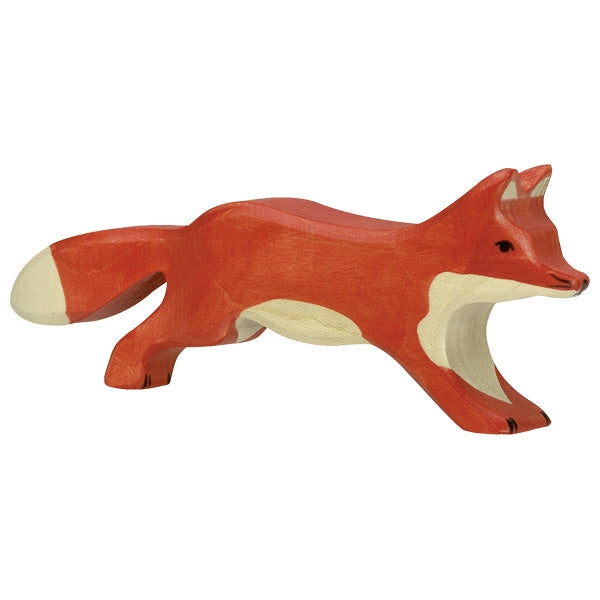 Holztiger - Wooden Animal - Fox Running