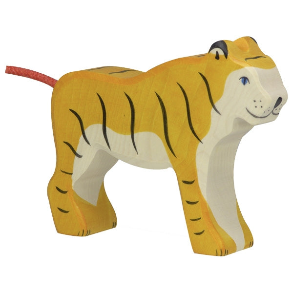 Holztiger - Wooden Animal - Tiger, standing