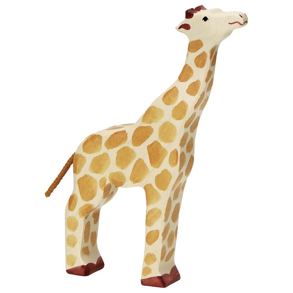 Holztiger - Wooden Animal - Giraffe, head raised