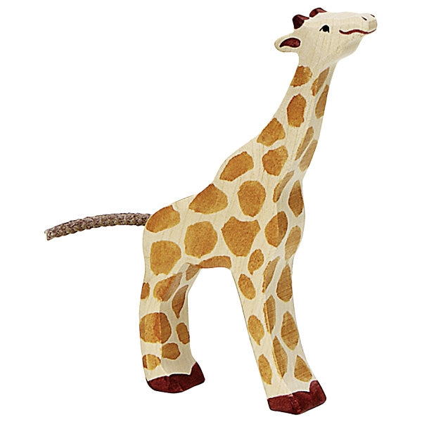 Holztiger - Wooden Animal - Giraffe, small, feeding