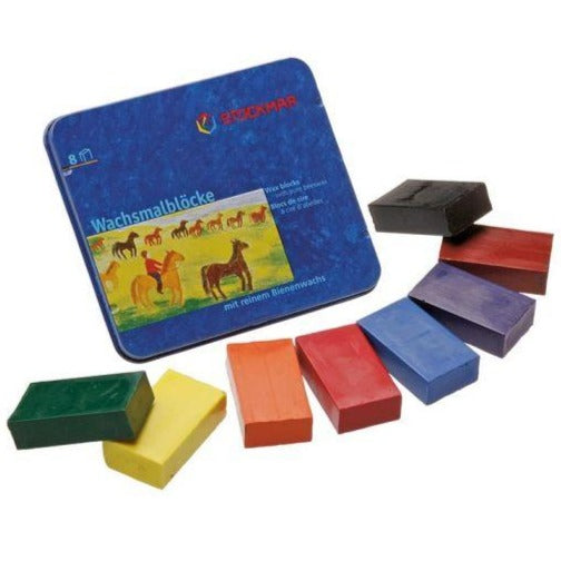 Stockmar - Wax Block Crayons Standard Tin Case - 8 Assorted