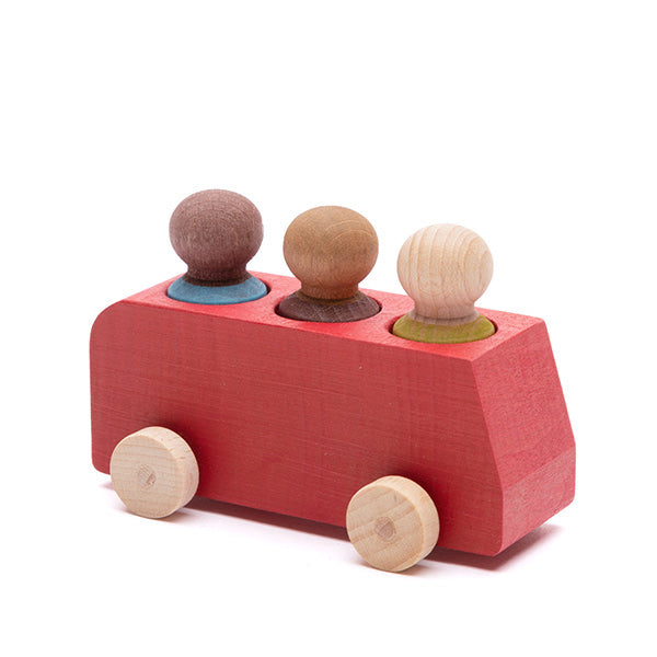 Lubulona - Bus with 3 Figures, Red