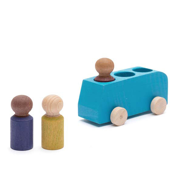Lubulona - Bus with 3 Figures, Blue