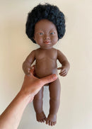 Down Syndrome Baby Doll, Black Girl, 15in