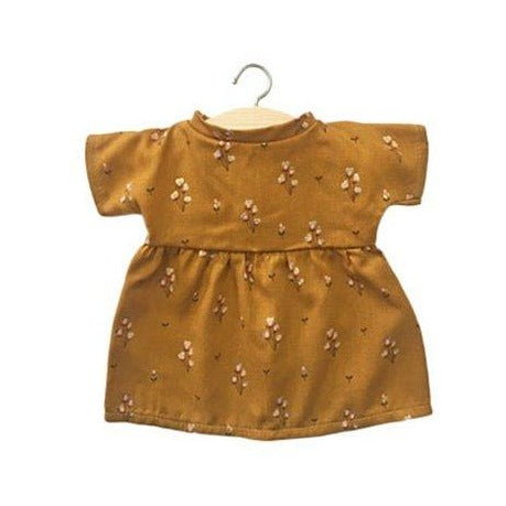 FAUSTINE Viscose Dress, Javanaise gold moutarde - Minikane
