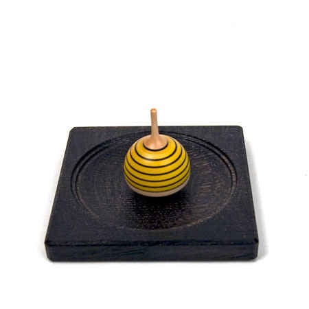 Small Plate for Spinning Tops (Ebonized)