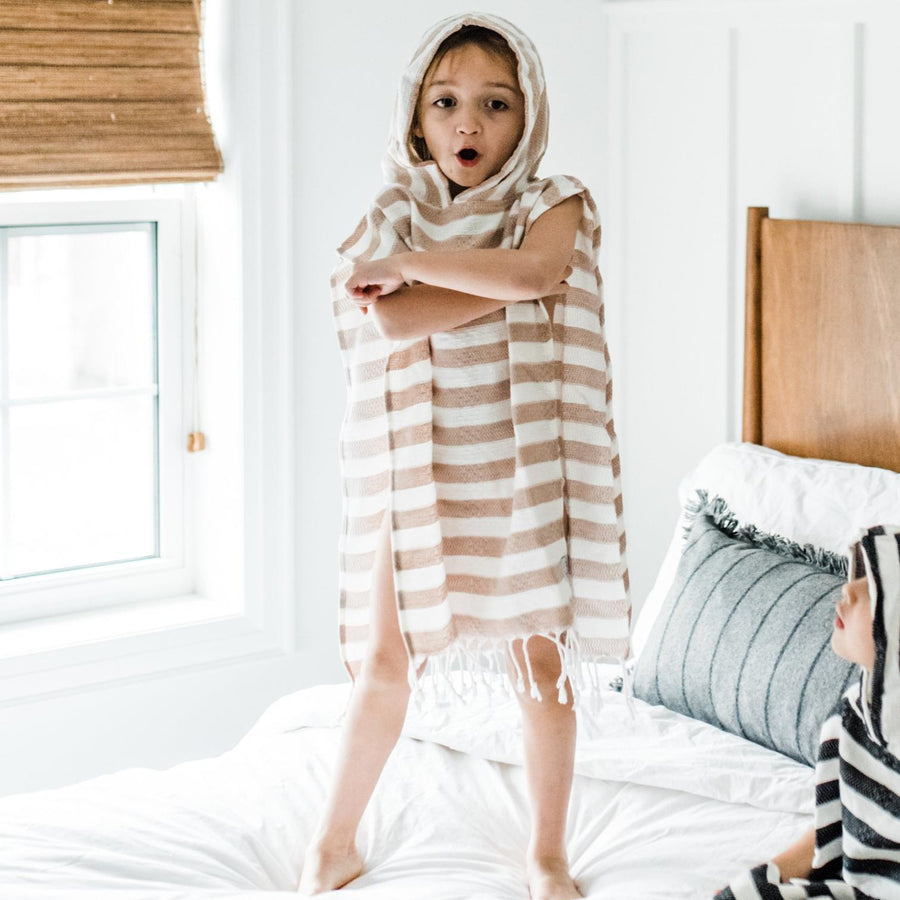 Child Poncho Turkish Towel, Fawn