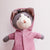 Hazel Village - Gracie Cat with Pink Raincoat & Striped Pants