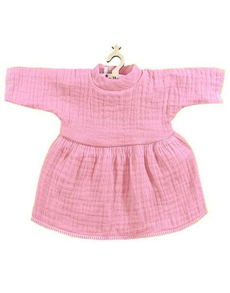 Robe Faustine Double Gauze Cotton Dress, Rose - Minikane